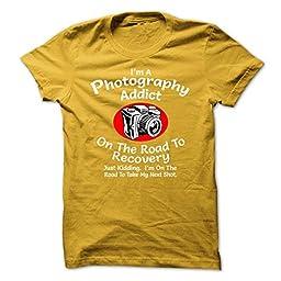 Photography Addict Photography Shirts (X Large;Black)