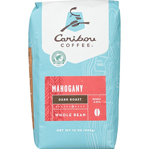 Caribou Coffee Mahogany Whole Bean, 12 Ounce Bag