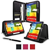RooCASE Samsung Galaxy Note 10.1 2014 Case - Executive Portfolio Leather (2014) Edition Tablet Case - BLACK (With...