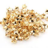 100x Gold 8mm Pyramid Studs Spots Punk Nailheads Spikes for Bag Shoes Bracelet
