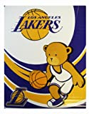 NBA Los angeles Lakers Royal Plush Raschel Throw - Lakers Blanket 50inx 40in