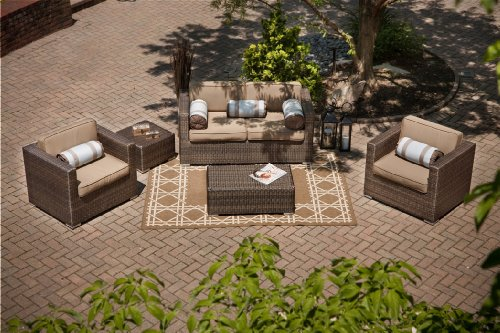 The Taryn Collection 5-Piece Patio Furniture Deep Seating Set