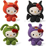 Hello Kitty Uglydoll 7 Inch Plush Set Of 4: Wage, Ice Bat, Ox, And Trunko