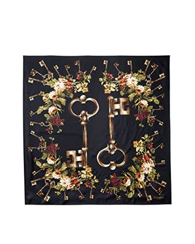 Dolce & Gabbana Women's Patterned Silk Scarf, Black