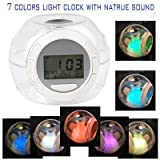 Nature Sound 7 Color Changing Light Alarm Clock Noise Machine