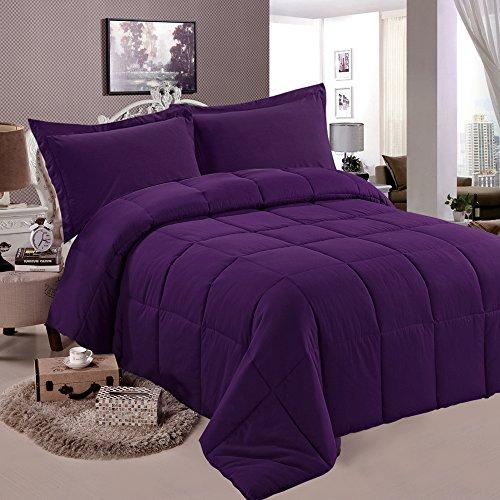 Ntbay Multi Color Down Comforter Queen Purple Bedding