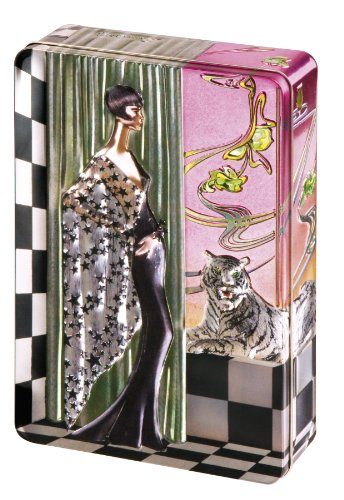 Churchill's Silver Art Deco (Georgina) Tin with Belgian Chocolate Biscuits 300 g