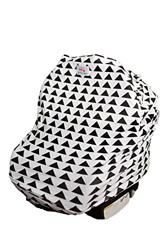 4-in-1 Baby Car Seat Cover - Versatile, Stretchy Fabric Canopy - Shopping Cart or Breastfeeding Cover Up - Soft, Breathable Swaddle Blanket for Infants, Newborns, Toddlers (Infant Boys Car Seat Covers compare prices)
