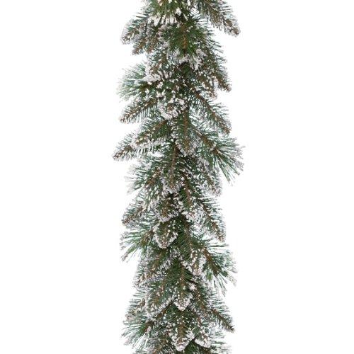 Kaemingk 688479 Girlande Finley Pine, gefrostet, Soft- und Hartnadel PVC Mix, innen, Länge 270 cm thumbnail