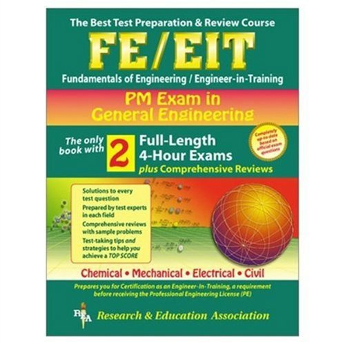 FE-EIT PM – General Engineering (REA) – The Best Test Prep for the EIT Exam (Engineering (FE/EiT) Test Preparation)