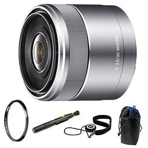 Sony DSLR SEL50F18 Sel 50mm F1.8 Nex System Camera Lens + Capkeeper + Lens Pouch + UV Portector + Accessory Kit