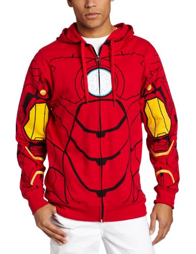 Marvel Men's My Iron Suit Hooded Costume Fleece
