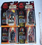 Star Wars Episode 1 - 4 Figures - Nute Gunray, Rune Haako, Darth Sidious and Destroyer Droid - Made by Hasbro in 1999