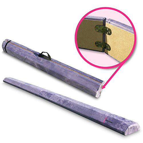 Joom Beem Purple 8-Feet Folding Beam 8ft Suede Folding Balance Beam