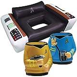 Trekkie Fans Star Trek Spock & Kirk Drink Koolers & Captain Chair Pool Float