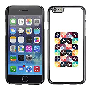 Omega Covers - Snap on Hard Back Case Cover Shell FOR Apple Iphone 6 Plus / 6S Plus ( 5.5 ) - Abstract Poly Art Polygon Pattern White