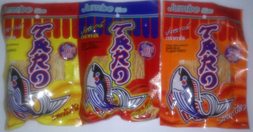 Mix Taro Fish Slimming Snack Food Spicy, Hot Chilli, Bar-B-Q Flavoured 48 Grams (Pack Of 3)
