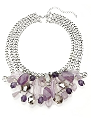 M&S Collection Assorted Bead Multi-Strand Collar Necklace