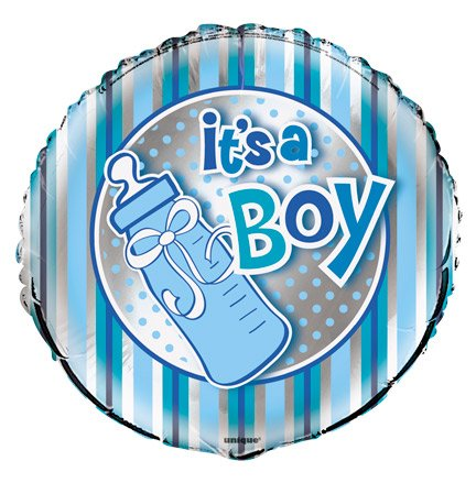"Foil Balloon - Helium Quality - ""It'S A Boy"" Bottle / 1~ 18"" Uninflated Balloon"