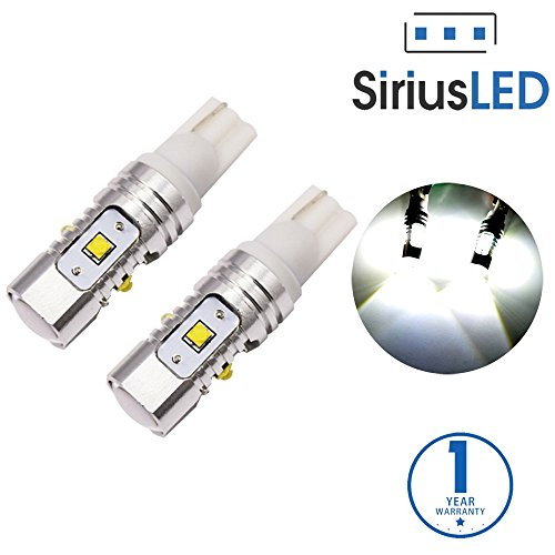 SiriusLED XB Chip Super Bright 25W Projector LED Bulbs for Backup Reverse Daytime Running DRL Driving T15 906 912 921 T10 6000K Xenon White (R Type Bulb 25 Watt compare prices)