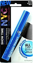 N.Y.C New York Color Showtime Waterproof & Voluminizing Mascara 844 Extreme Black 0.27 Floz 8mL