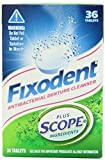 Fixodent Denture Cleanser Plus Scope (Pack of 2) Total 72 Tablets