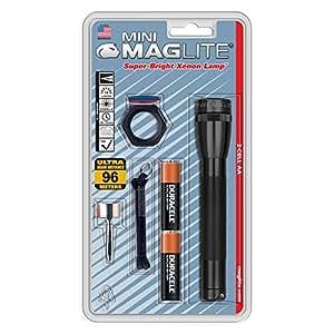MAGLITE M2A01C AA Mini Maglite Flashlight Combo Pack (Black)