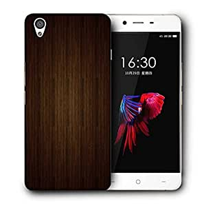 Snoogg Brown Wall Printed Protective Phone Back Case Cover For OnePlus X / 1+X