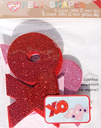 Felt Valentine's Day Craft Shapes