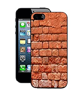Fuson 2D Printed Brick Wall Designer Back Case Cover for Apple iPhone 5S - D889