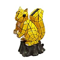 Solar Lighted Squirrel Accent Light -- Landscape Ornament Product SKU: SO10240