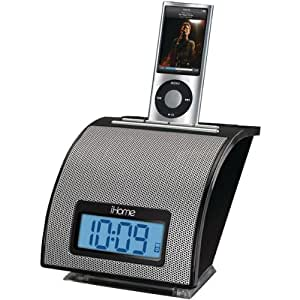 iHome IP11BVC Spacesaver Alarm Clock for iPod and iPhone (Black)
