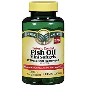 Spring valley fish oil 1290 mg omega 3 900 for Fish oil capsules side effects
