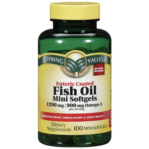 Spring valley fish oil 1290 mg omega 3 900 mg enteric for Enteric coated fish oil