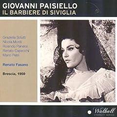 Giovanni Paisiello : Il Barbiere di Siviglia (Brescia 1959)