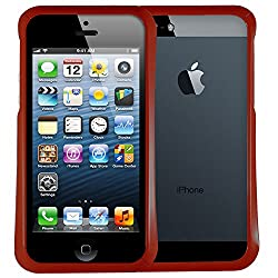 AirPlus AirCase Gloss Series Bumper Case with Screen Protecter for Apple iPhone 5/5S (Ruby Red)