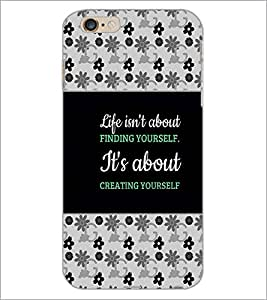 PrintDhaba Quote D-4667 Back Case Cover for APPLE IPHONE 6S (Multi-Coloured)