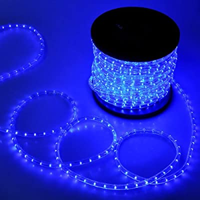 MegaBrand Christmas Lighting LED Rope Light 150ft Blue w/ Connector