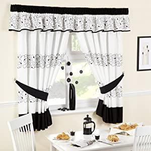Http Www Amazon Com Kitchen Curtains Black White 46x54 Dp B00b5rcgya