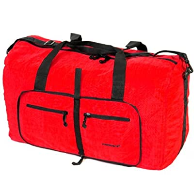 Large 80 Litres Foldable Cargo Travel Bag (Red)