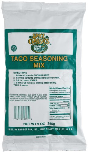 Buy McCormick Taco (no Msg) Seasoning, 9-Ounce Units (Pack of 12) (McCormick, Health & Personal Care, Products, Food & Snacks, Seasonings Herbs & Spices)