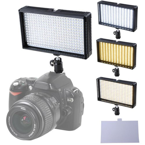 New 312-Led Video Light Panel 3200K-5600K Bi-Color Temperature Adjustable Light