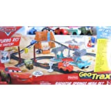Disney CARS Geo Trax Radiator Springs Mega Race Set w TURBO Remote Control, Sounds & 5 Cars (2009)