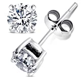 Watch & Jewelry Online Shop Ranking 1. 2.00 Carat Cubic Zirconia Earrings. Set in 925 Sterling Silver Nickel Free Settings. 6.50mm Each Round Stone. 1.00 Carat Each. Nickel Free
