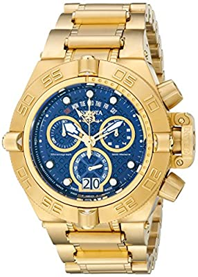 Invicta Men's 17608 Subaqua 18 k Gold Ion-Plated Stainless Steel Watch