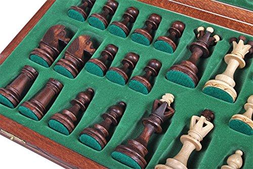 The Zaria - Unique Wood Chess Set, Pieces, Chess Board & Storage 4