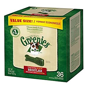 Greenies Dog Dental Chew Treats Regular 36oz 36ct