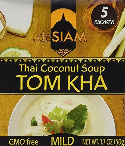 deSIAM Soup, Thai Coconut (Tom Kha), 1.7 Ounce (Pack of 12) (Thai Soup Mix compare prices)