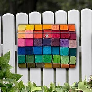motivx Briefkasten Swing mit Motiv  Bunte Kreide  GartenKundenbewertung und Beschreibung