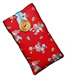 Padded Case Sleeve for iPhone 4 4s Made By Hoochiboo in Cath Kidston Red Sprig Rose
